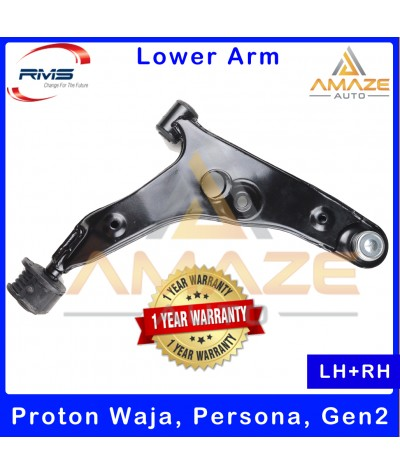 RMS Front Lower Control Arm for Proton Waja, Persona, Gen2 (LH+RH) - 1 Year Warranty or 30,000KM