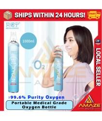 [99.6% Oxygen] Beinuoning Medical Portable Oxygen Inhaler Bottle Oksigen botol - Aerator Oxygen Supply [1000ml] 氧气瓶