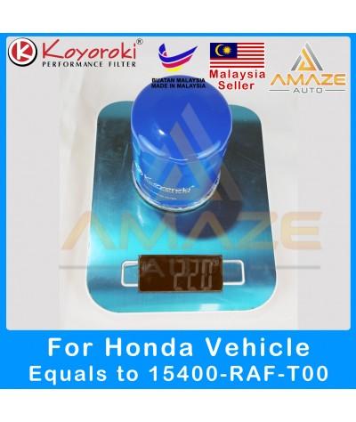 Koyoroki Performance Oil Filter for Honda (Accord, BR-V, City, CR-V, CR-Z, Jazz, Freed, HR-V, Odyssey, Stream) [Amaze Autoparts]