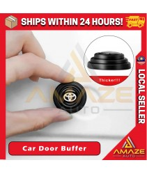 [Black] Silicone Car Door Cushion Soft Close Pad Absorber Pad Sound Insulation Door Buffer (Toyota, Honda, Mazda, Nissan, Volkswagen, BMW) [Amaze Autoparts]