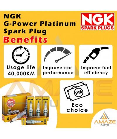 NGK G-Power Platinum Spark Plug for Proton Saga BLM / FL / FLX 1.3 & 1.6 (Campro) (2006 - 2016) - Last 40,000KM