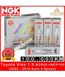 NGK Laser Iridium Spark Plug for Toyota Vios NCP42 / NCP93 / NCP150 (2003 ~ 2016 Auto 4 Speed  version) - Long Life Spark Plug 100,000KM