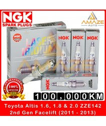 NGK Laser Iridium Spark Plug for Toyota Altis 1.6, 1.8 & 2.0 ZZE142 (2nd Gen Facelift) (2011-2013) - Long Life Spark Plug 100,000KM