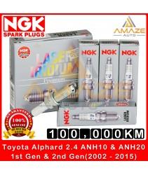 NGK Laser Iridium Spark Plug for Toyota Alphard 2.4 ANH10 (1st Gen) & ANH20 (2nd Gen) - (2002-2015) - Long Life Spark Plug 100,000KM