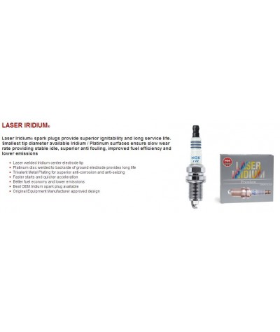 NGK Laser Iridium Spark Plug for Mazda 3 1.6 (2nd Gen)