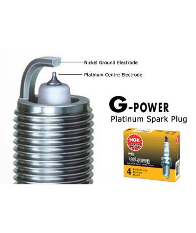 NGK G-Power Platinum Spark Plug for Honda Civic  1.7 ES VTEC (2000-2005) - Last 40,000KM