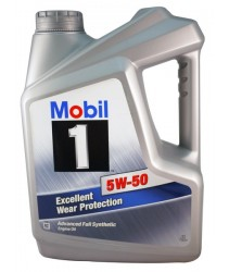 Mobil 1 Excellent Wear Protection 5W50SN Fully-Synthetic Engine Oil - 4 Liters