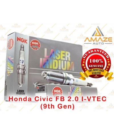 NGK Laser Iridium Spark Plug for Honda Civic FB 2.0 I-VTEC (9th Gen)