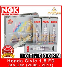 NGK Laser Iridium Spark Plug for Honda Civic 1.8 I-VTEC FD (8th Gen) - Long Life Spark Plug 100,000KM