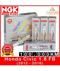 NGK Laser Iridium Spark Plug for Honda Civic 1.8 I-VTEC FB (2012-2016) - Long Life Spark Plug 100,000KM