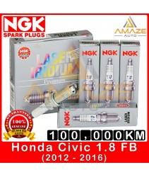 NGK Laser Iridium Spark Plug for Honda Civic 1.8 I-VTEC FB (2012-2016) - Long Life Spark Plug 100,000KM