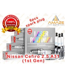 NGK Laser Platinum Spark Plug for Nissan Cefiro 2.5 A31 (1st Gen)