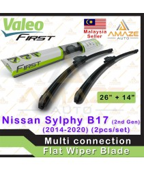 Valeo First Multi-connection Flat Wiper for Nissan Sylphy B17 2nd Gen (2014-2020) (2pcs/set)
