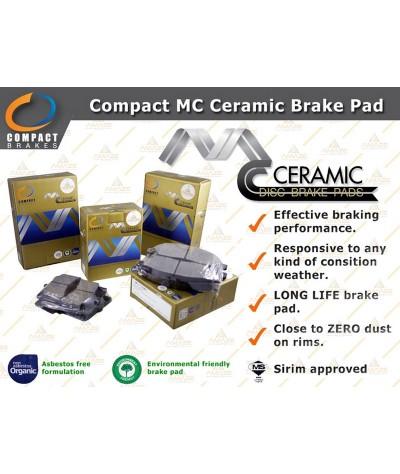 Compact MC Ceramic Brake Pad for Toyota Vios 3rd Gen (NCP150) (2013 - 2016) (Rear)