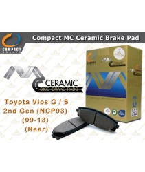 Compact MC Ceramic Brake Pad for Toyota Vios G / S 2nd Gen (NCP93) (2009-2013) (Rear)