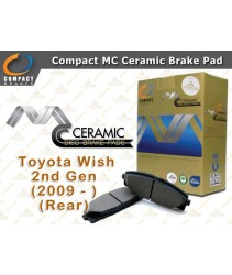 Compact MC Ceramic Brake Pad for Toyota Wish 2nd Gen (2009 - ) (Rear)