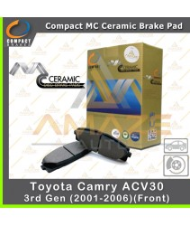 Compact MC Ceramic Brake Pad for Toyota Camry ACV30 3rd gen (2001-2006) (Front)