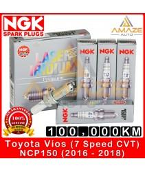 NGK Laser Iridium Spark Plug for Toyota Vios NCP150 7Speed CVT (2016 - 2018) - Long Life Spark Plug 100,000KM