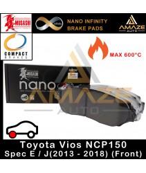 Musashi Nano Infinity Brake Pad for Toyota Vios 3rd Gen E/J (NCP150) (13-16)(F)