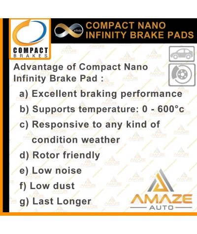 Compact Nano Infinity Brake Pad for Honda Insight (2011-2014) (Front)