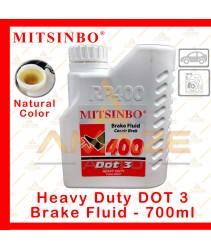 Mitsinbo Heavy Duty DOT 3 Brake Fluid (Natural Color) (700ml/btl)