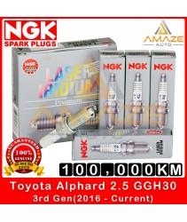 NGK Laser Iridium Spark Plug for Toyota Alphard 2.5 GGH30 3rd gen (2016-current) - Long Life Spark Plug 100,000KM