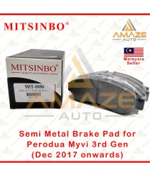 Mitsinbo Semi Metal Brake Pad for Perodua Myvi 3rd Gen (Dec 2017 onwards)